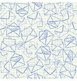 Envelope doodles seamless pattern vector image vector image