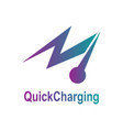 fast charging logo template with thunder symbol vector image