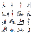 Fitness Gym Training Icons Set vector image vector image