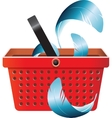 Flying object in shop basket-05 vector image vector image