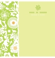 Green and golden garden silhouettes square torn vector image