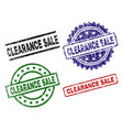 grunge textured clearance sale stamp seals vector image