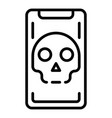hacked smartphone icon outline style vector image vector image