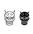 hanya mask evil ghost face in logo and icon vector image