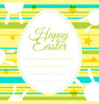 Happy easter card template with colorful