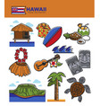 hawaii travel tourism landmarks and tourist vector image vector image