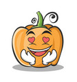 in love pumpkin character cartoon style vector image