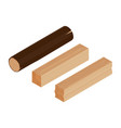 log and lumber vector image vector image