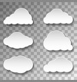 messages clouds icon on transparent background vector image vector image