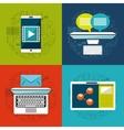 mobile technology design vector image