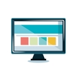 monitor computer display icon vector image vector image