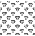 Monkey face seamless pattern vector image vector image