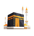 mosque on eid al adha closeup vector image
