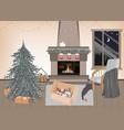new year preparation interior vector image