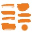 Orange halftone banners vector image