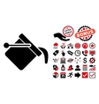 Paint Bucket Flat Icon with Bonus vector image
