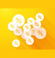 percent discounts on orange yellow background vector image vector image