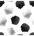 realistic 3d detailed white and black blank vector image vector image