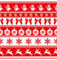 red traditional christmas seamless pattern vector image vector image