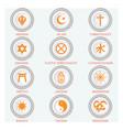 religious symbols vector image vector image