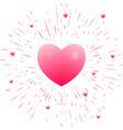 romantic pink heart vector image vector image