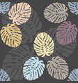 seamless pattern with elegant monstera leaves vector image