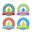 set flat best choice labels with ribbon vector image vector image