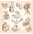 Sketch Photo Set vector image