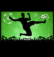 soccer silhouettes on abstract background vector image vector image