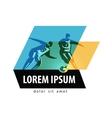 sports logo design template soccer vector image vector image