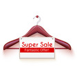 super sale poster with text design tag hanging vector image