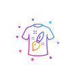 t-shirt design line icon creative brush sign vector image vector image