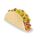 taco in realistic style vector image