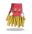 upside down french fries cartoon character vector image vector image
