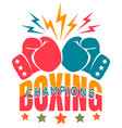 Vintage sport logo for boxing
