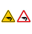 Warning sign attention shrimp Hazard yellow sign vector image vector image