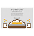web banner of elegance bedroom interior with vector image vector image