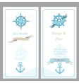 Wedding invitation template nautical style vector image vector image