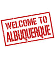 welcome to albuquerque stamp vector image vector image