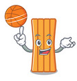 with basketball air mattress character cartoon vector image