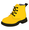yellow winter shoes on white background vector image vector image