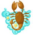 Zodiac signs - scorpio vector image