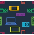 Devices and gadgets pattern vector image