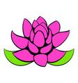 lotus flower icon cartoon vector image