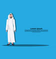 arabic business man icon wearing traditional vector image vector image