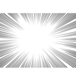 background of radial lines for comic books vector image vector image