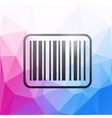 Barcode icon on colorful polygonal background vector image