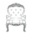Baroque luxury style armchair furniture vector image vector image