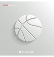 Basketball icon - white app button vector image vector image