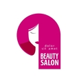 Beauty salon logo design template Girl vector image vector image